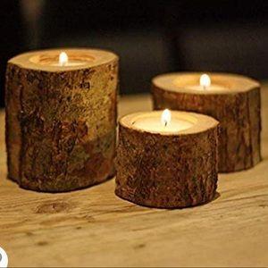 New Wood Tealight Set